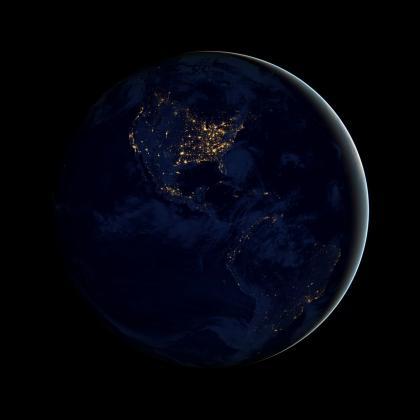地球夜景图